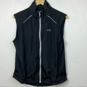 Running Room Women's Run Vest Black Zipper Size M